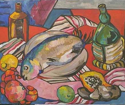 Fish with Wine Bottles