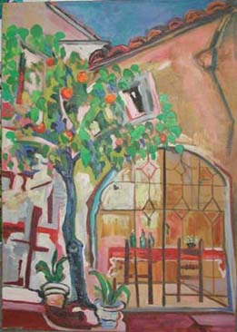 Courtyard with Citrus