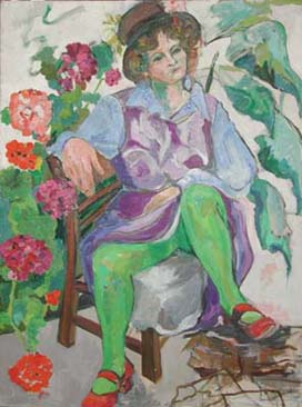Lady with Green Legs